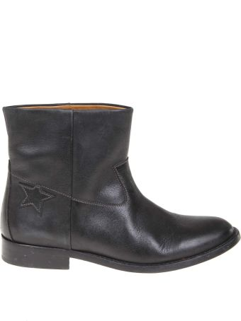 Golden Goose Black Leather Ankle Boot