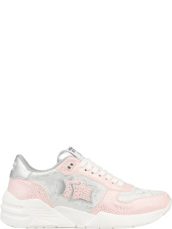 Atlantic Stars Pebbled Leather And Tech Fabric Sneaker