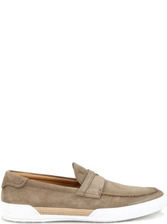 Tod's Suede And Rope Sporty Loafers Xxm48b0bc30re0c405