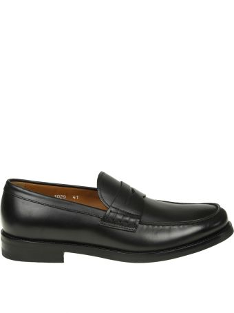 Doucal's Leather Loafers Color Black