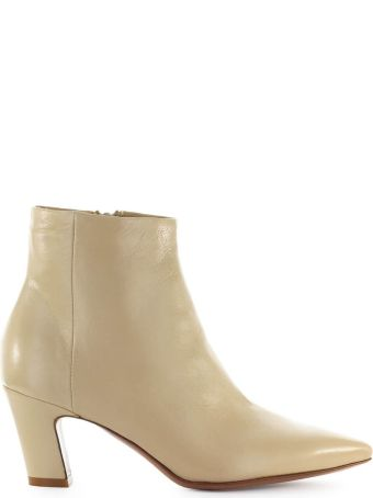 Fiori Francesi Beige Leather Ankle Boot