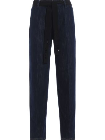 Dondup Marika Wide Fit Belted Jeans