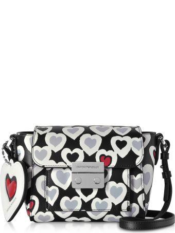 Emporio Armani Small Heart Print Shoulder Bag