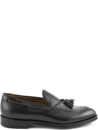 Doucal's Black Tassel Leather Loafer.
