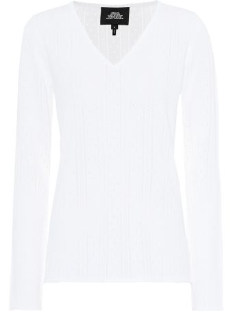 Marc Jacobs Pointelle Stretch-viscose Sweater