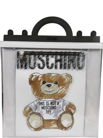 Moschino Transparent Teddy Tote