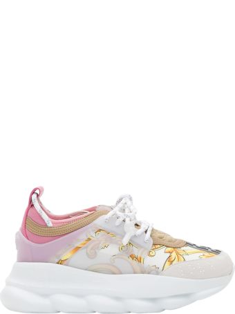 Versace Chain Reaction Sneaker With Baroque-print