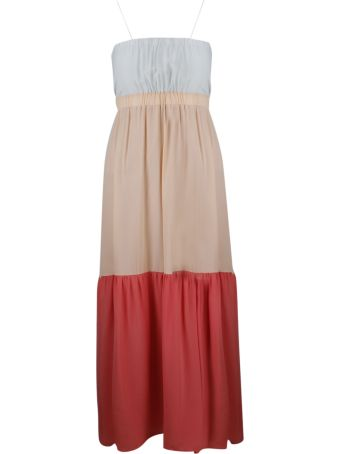 SEMICOUTURE Color Block Maxi Dress