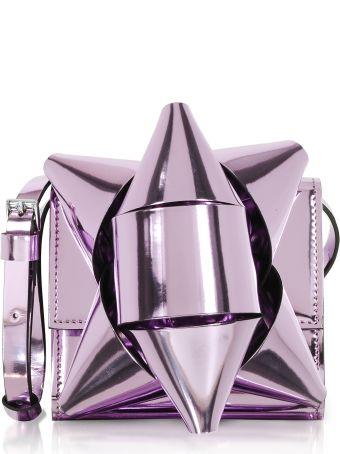 MM6 Maison Margiela Mm6 Maison Martin Margiela Metallic Eco-leather Bow Shoulder Bag