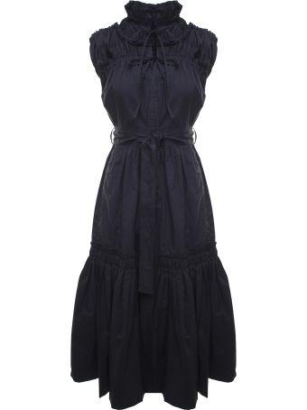 Proenza Schouler Gathered Cotton-poplin Midi Dress