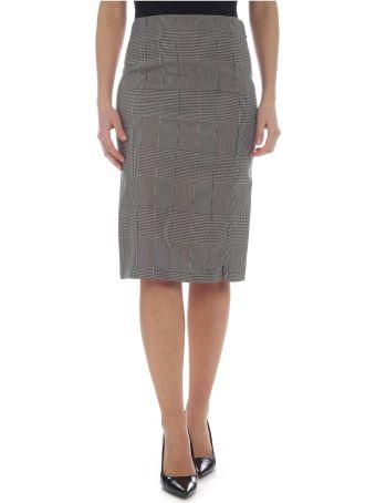 Patrizia Pepe Check Pencil Skirt