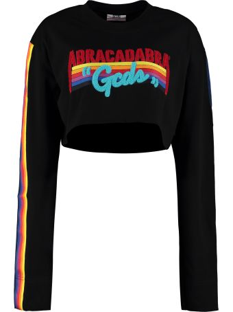 GCDS 'abracadabra' Embroidery Cropped T-shirt