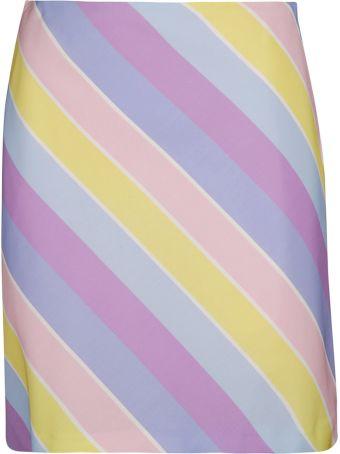 Blugirl Striped Print Mini Skirt