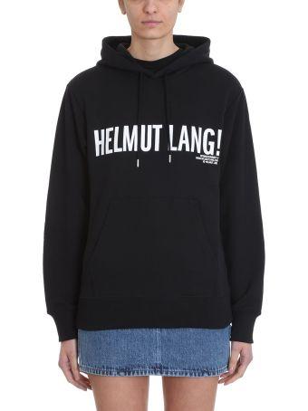 Helmut Lang Exclamation Black Logo Hoodie Sweatshirt