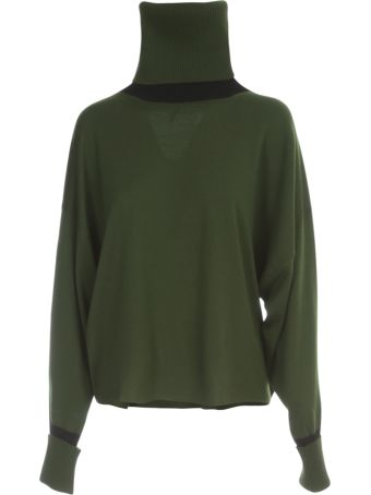 PierAntonioGaspari Short Turtle Neck Sweater Bicolour