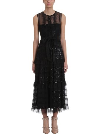 RED Valentino Point D'esprit Tulle Long Dress