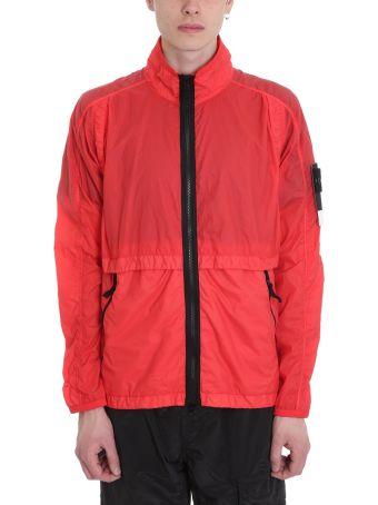 Stone Island Red Technical Fabric Jacket