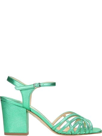 The Seller Laminated Green Leather Sandals