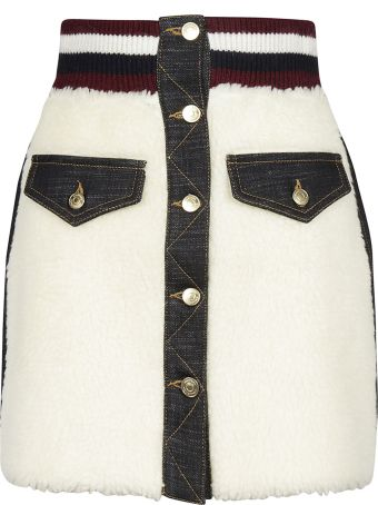 Tommy Hilfiger Teddy Fur Mini Skirt