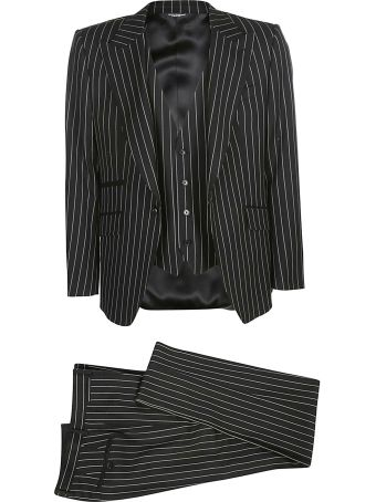 Dolce & Gabbana Pinstriped Three Piece Suit