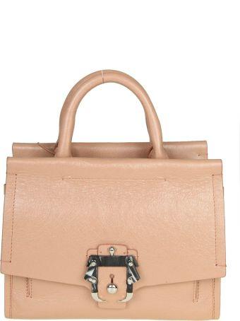 "Paula Cademartori ""manu"" Bag In Pink Colored Leather"