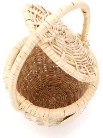 Patou Wicker Basket Bag