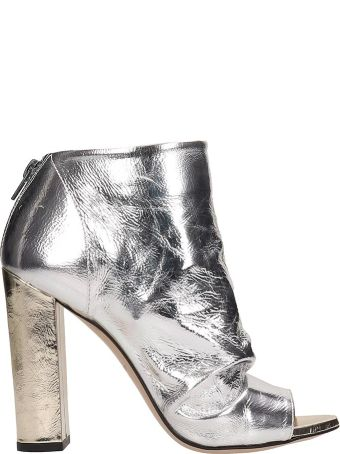 Marc Ellis Open Toe Silver Ankle Boots