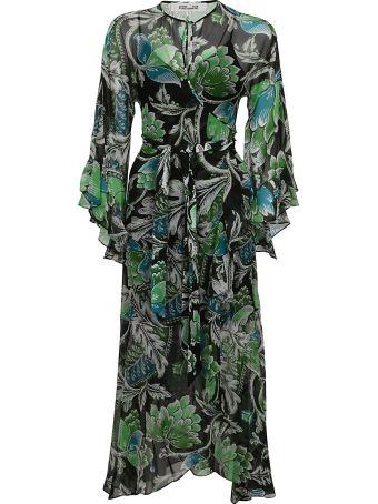 Diane Von Furstenberg Tiger Lily Print Wrap Dress