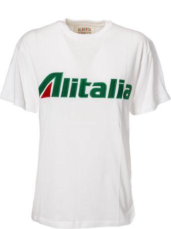 Alberta Ferretti Alitalia Patch Detail T-shirt