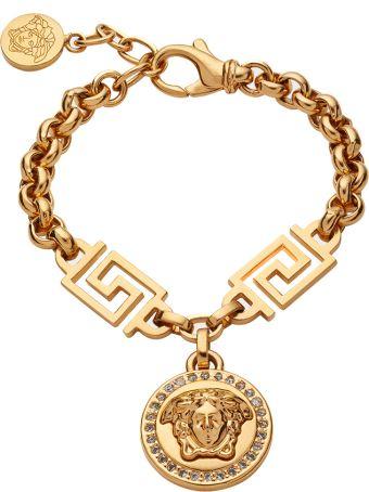 Versace Medusa-charm Crystal-embellished Chain-link Bracelet