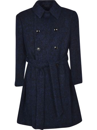 Massimo Piombo Belted Double Breasted Coat