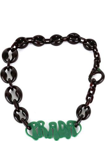 Prada Necklace With Logo