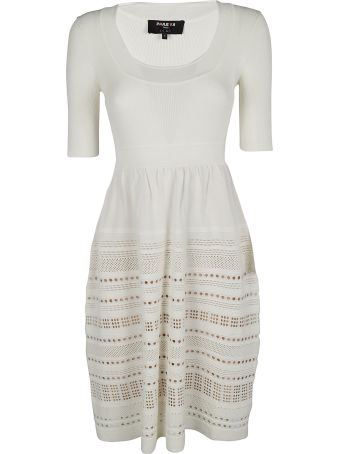 Paule Ka Perforated Detail Dress