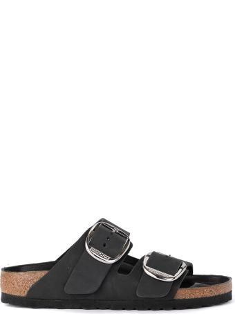 Birkenstock Arizona Big Buckle Black Leather Sandal - Premium