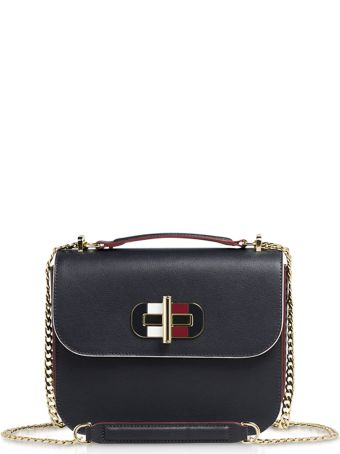 Tommy Hilfiger Tommy Navy Blue Turn-lock Crossover Bag