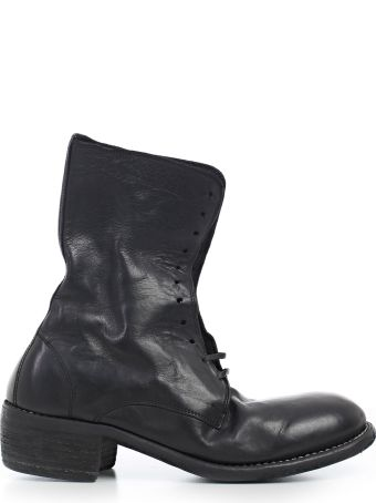 Guidi Stitched Detail Lace-up Boots