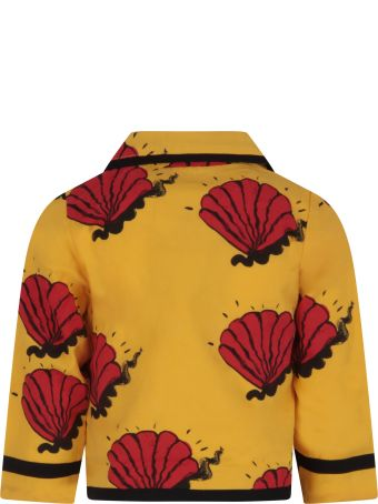 Mini Rodini Yellow Jacket For Boy With Red Shells