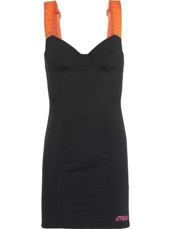 HERON PRESTON Bustier Reflective Zip Dress
