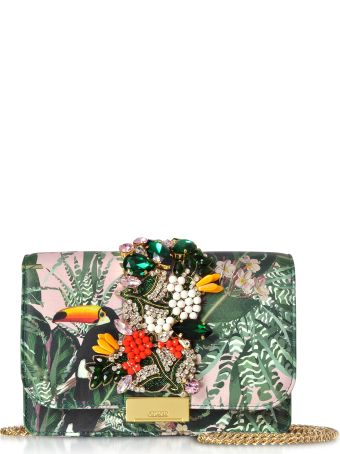 Gedebe Cliky Pink Toucan Clutch