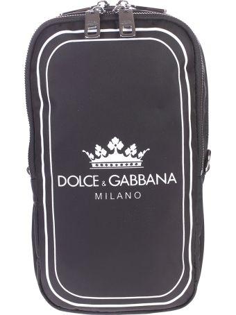 Dolce & Gabbana Black Branded Belt Pack