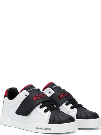 Dolce & Gabbana Black And White Teen Sneakers Dolce&gabbana Kids