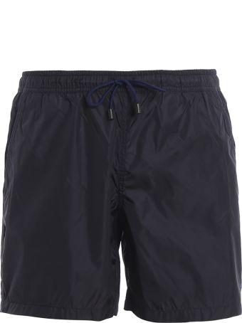 Fay Blue Semi Glossy Nylon Swim Shorts N1md1381180pfwu809