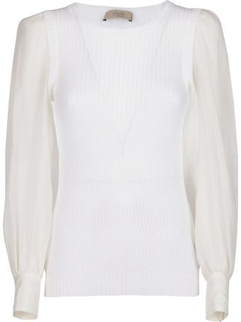 Maison Flaneur White Cotton Blouse