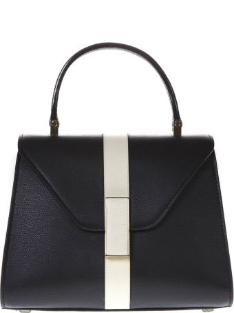 Valextra Black Iside Mini Bag In Leather