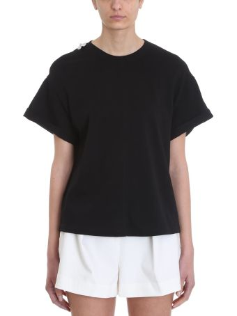 3.1 Phillip Lim Cut Out White Cotton T-shirt
