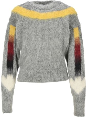 Off-White Off White Arrows Fuzzy Knitted Jumper