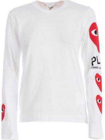 Comme des Garçons Play Logo Heart Sweatshirt