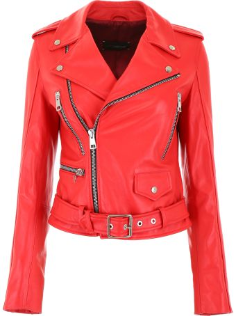 Manokhi Leather Biker Jacket