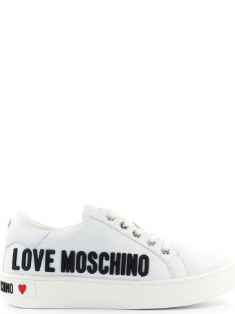 Love Moschino White Sneaker With Black Logo