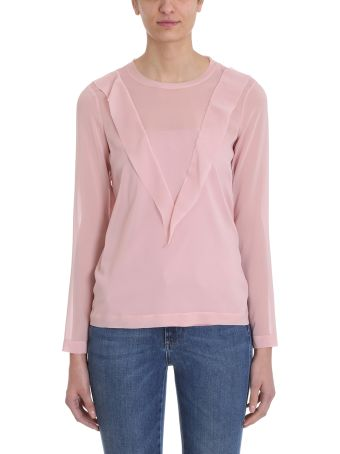 RED Valentino Pink Cotton Sweater